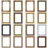 Insieme dei telai di legno Fotografia Stock