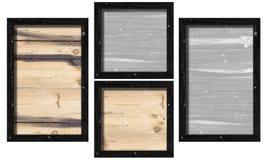 Insieme dei telai di legno Immagini Stock Libere da Diritti