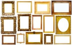Insieme dei telai isolati Fotografie Stock