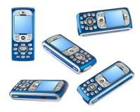Insieme dei telefoni mobili Immagini Stock Libere da Diritti