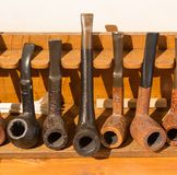 Insieme dei tubi del fumo Fotografie Stock