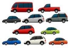 Insieme dei veicoli - automobile, bus, trattore Fotografia Stock Libera da Diritti