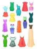 Insieme dei vestiti da estate Fotografie Stock Libere da Diritti