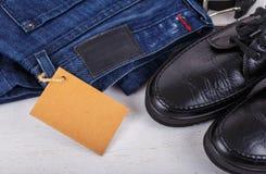 Insieme dei vestiti degli uomini Fotografia Stock Libera da Diritti