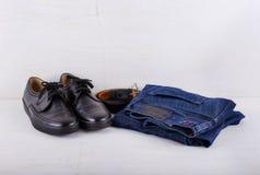 Insieme dei vestiti degli uomini Fotografie Stock Libere da Diritti