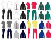 Insieme dei vestiti dello sport degli uomini illustrazione di stock