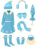 Insieme dei vestiti di inverno royalty illustrazione gratis