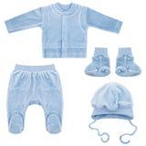 Insieme dei vestiti per i bambini ed i bambini, isolamento Immagini Stock Libere da Diritti