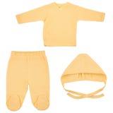 Insieme dei vestiti per i bambini ed i bambini, isolamento Fotografia Stock