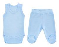 Insieme dei vestiti per i bambini ed i bambini, isolamento Immagine Stock Libera da Diritti