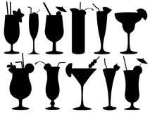 Insieme dei vetri di cocktail Fotografia Stock