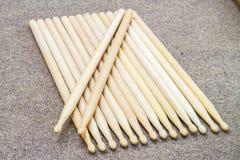 insieme del bastone del tamburo Fotografia Stock