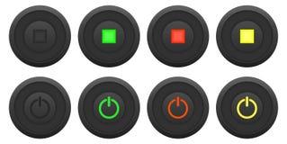 Insieme del bottone Immagine Stock