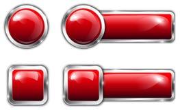 Insieme del bottone Fotografia Stock Libera da Diritti