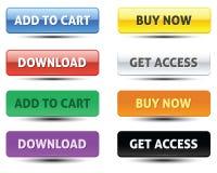 Insieme del bottone di CTA royalty illustrazione gratis