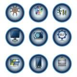 Insieme del bottone di Web Immagini Stock Libere da Diritti