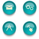 Insieme del bottone di web di istruzione di verde blu Immagine Stock Libera da Diritti