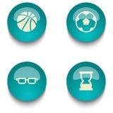 Insieme del bottone di web di istruzione di verde blu Immagine Stock
