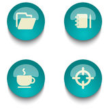 Insieme del bottone di web di istruzione di verde blu Immagini Stock Libere da Diritti