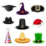 Insieme del cappello del partito Fotografie Stock Libere da Diritti
