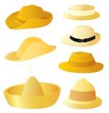Insieme del cappello dell'uomo Fotografia Stock Libera da Diritti