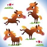 Insieme del cavallino sveglio del fumetto illustrazione di stock