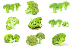 Insieme del cavolo dei broccoli Fotografia Stock