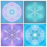 Insieme del cerchio Lacy Patterns Immagine Stock