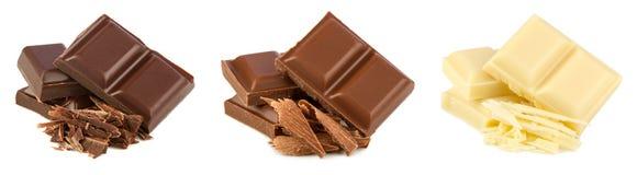 Insieme del cioccolato Fotografia Stock