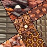Insieme del cioccolato immagini stock