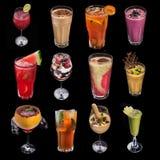 insieme del cocktail della bevanda dell'alcool Immagine Stock