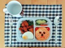 Insieme del contenitore di prima colazione Immagine Stock