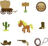 Insieme del cowboy illustrazione vettoriale