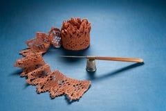 Insieme del Crochet immagini stock