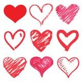 Insieme del cuore Fotografia Stock