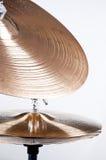 Insieme del Cymbal isolato su bianco Immagine Stock