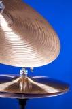 Insieme del Cymbal isolato sull'azzurro Fotografia Stock Libera da Diritti
