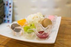 Insieme del dessert Fotografia Stock