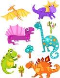 insieme del dinosauro royalty illustrazione gratis