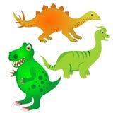 Insieme del dinosauro Fotografia Stock Libera da Diritti