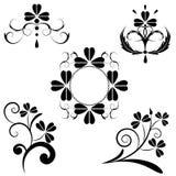 Insieme del disegno floreale Fotografia Stock