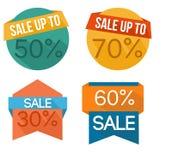 Insieme del distintivo di vendita Immagine Stock