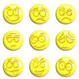 Insieme del Emoticon Fotografia Stock Libera da Diritti
