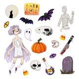 Insieme del fantasma di Halloween illustrazione di stock