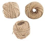Insieme del filato di lana isolato Immagini Stock