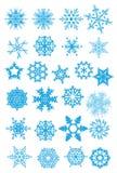 Insieme del fiocco di neve Fotografia Stock Libera da Diritti
