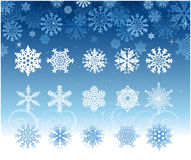 Insieme del fiocco di neve Fotografie Stock