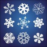 Insieme del fiocco di neve Fotografie Stock Libere da Diritti