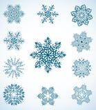 Insieme del fiocco di neve Immagine Stock