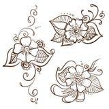 Insieme del fiore di Mehndi Royalty Illustrazione gratis